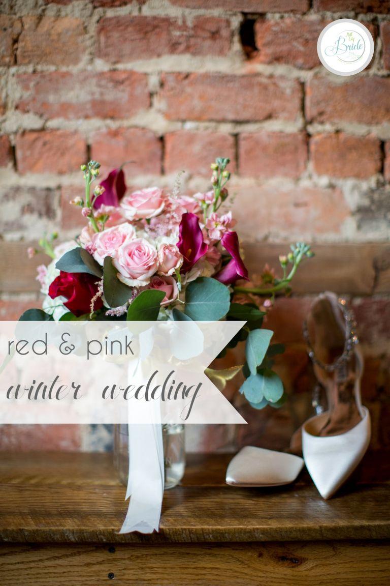 Red Pink Winter Wedding   Hill City Bride Virginia Wedding Blog Valentine's Day Holiday Christmas