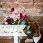 Red Pink Winter Wedding | Hill City Bride Virginia Wedding Blog Valentine
