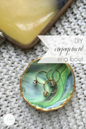 DIY Engagement Ring Bowl | Hill City Bride Virginia DIY Wedding Blog