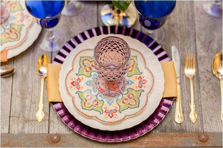 Middle Eastern Wedding | Hill City Bride Virginia Wedding Blog Travel Destination - place setting