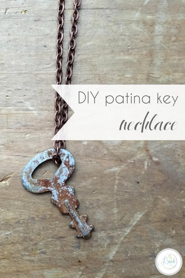 DIY Patina Key Necklace Vintage How to Age Metal | Hill City Bride Virginia Wedding Blog