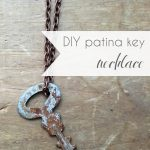 DIY Patina Key Necklace Vintage How to Age Metal | Hill City Bride Virginia Wedding Blog