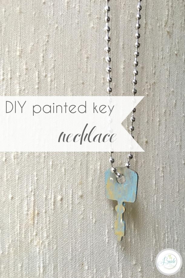 DIY Painted Key Necklace Vintage Metal   Hill City Bride Virginia Wedding Blog