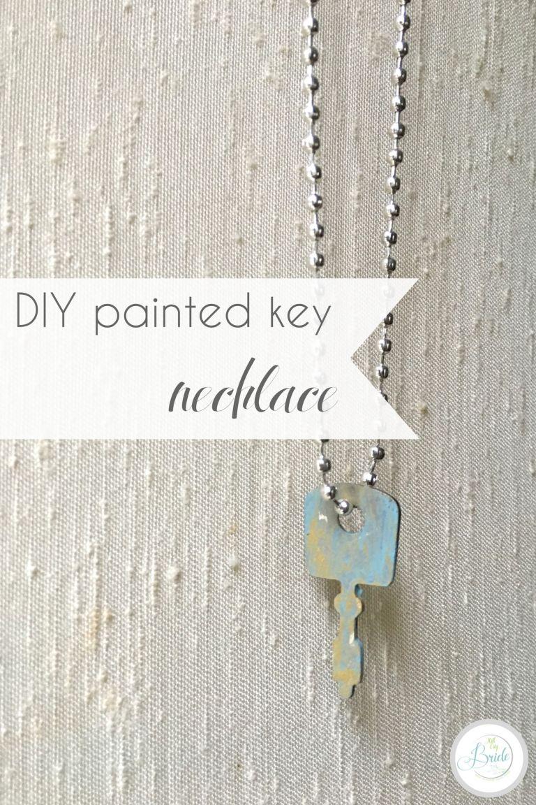DIY Painted Key Necklace Vintage Metal | Hill City Bride Virginia Wedding Blog