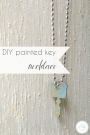 DIY Painted Key Necklace Vintage Metal | Hill City Bride Virginia Wedding Blog