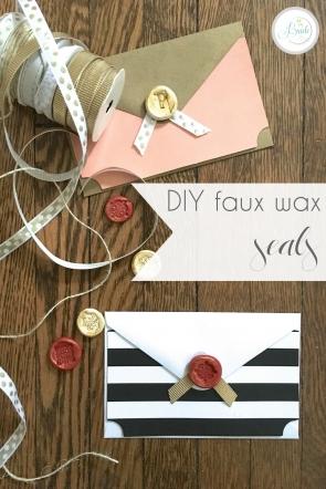 DIY Faux Wax Seals for Envelopes | Hill City Bride Virginia DIY Blog