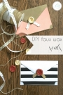DIY Faux Wax Seals for Envelopes | Hill City Bride Virginia DIY Blog