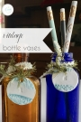 DIY Personalized Vintage Bottle Vases | Hill City Bride Virginia Wedding Blog
