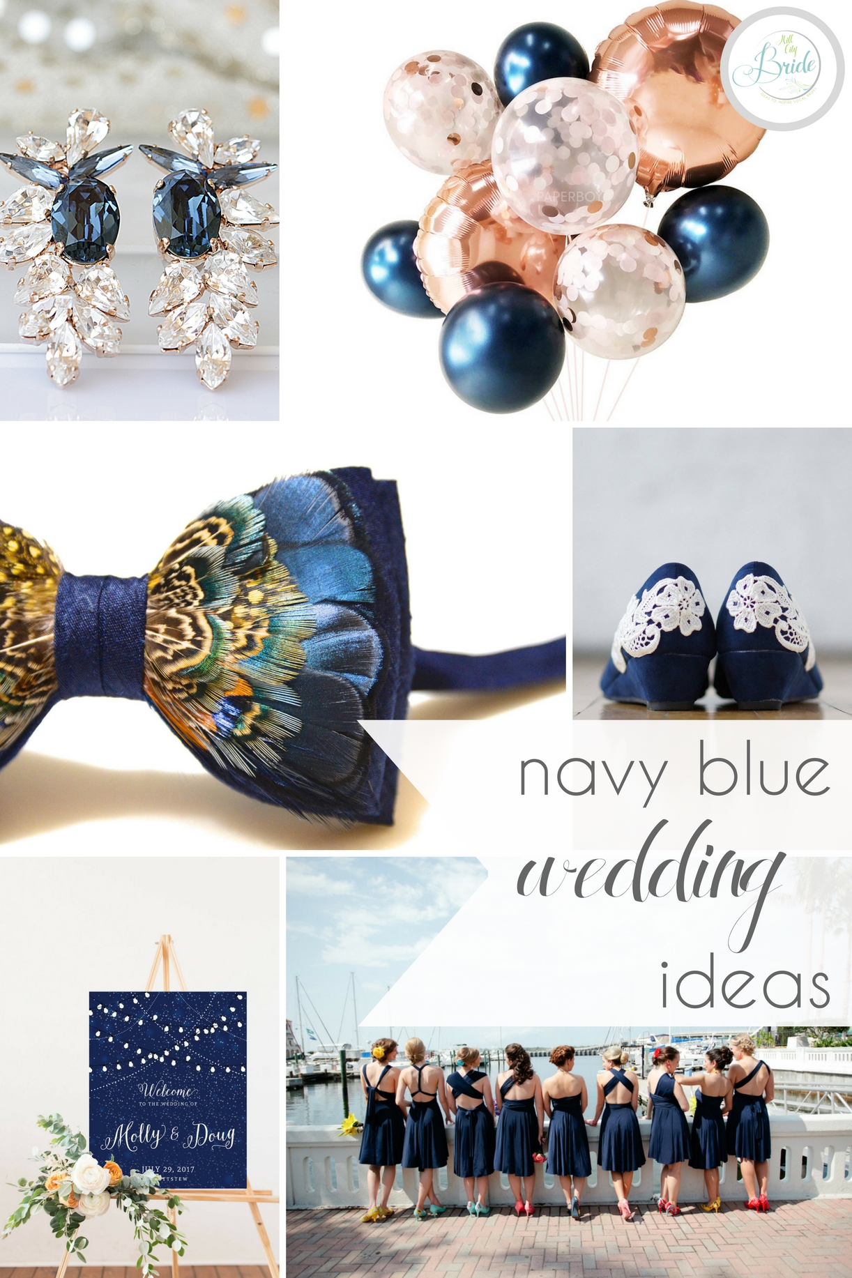 Navy Blue Wedding Ideas » Hill City Bride | Virginia Wedding Blog