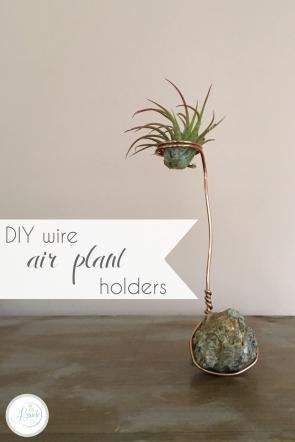 DIY Wire Air Plant Holders | Hill City Bride Virginia Wedding Blog