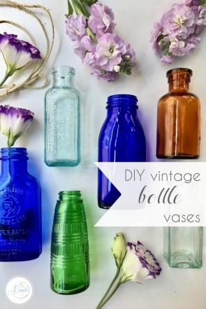 DIY Vintage Bottle Vases | Hill City Bride Virginia Wedding Blog