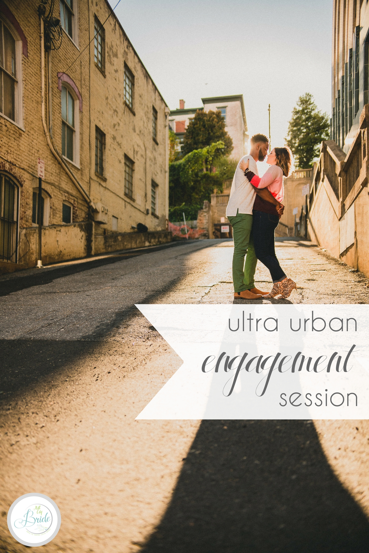Ultra Urban Engagement Session in Lynchburg Virginia | Hill City Bride Wedding Blog