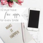 Free Wedding Apps for Every Bride | Hill City Bride Virginia Wedding Blog