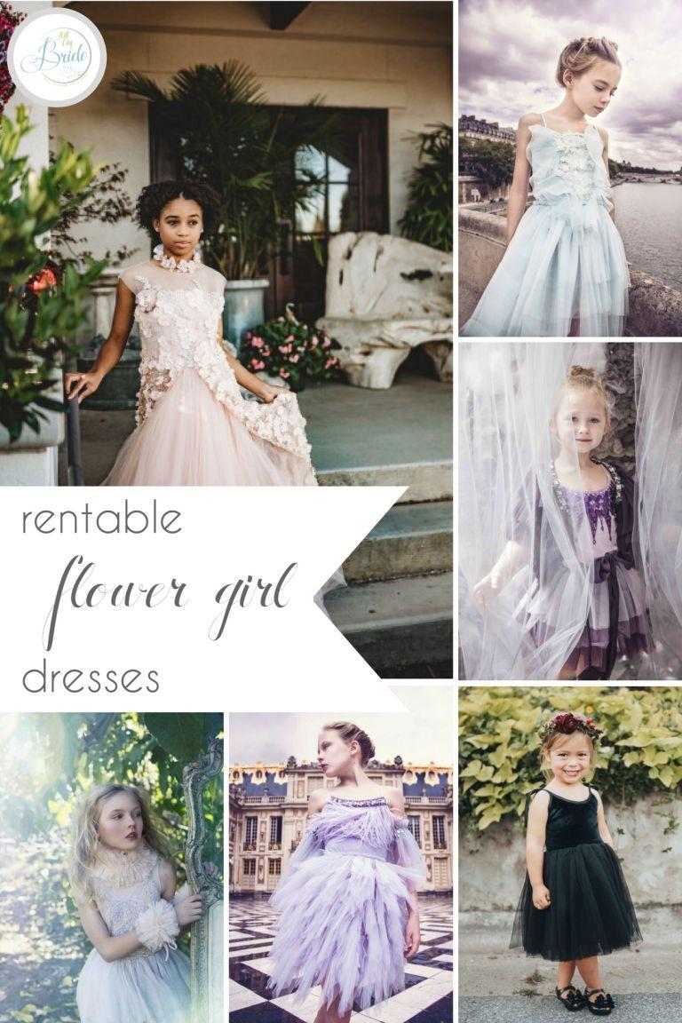 Rent Flower Girl Dresses with Rainey's Closet | Hill City Bride Virginia Wedding Blog