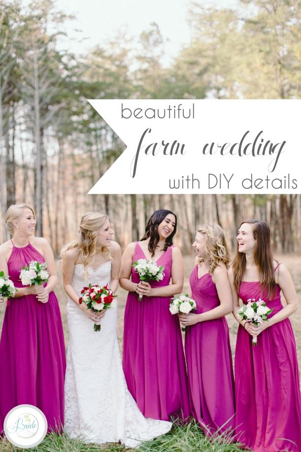 Farm Wedding with DIY Details | Hill City Bride Virginia Wedding Blog