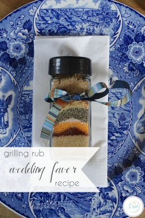 Grilling Rub Recipe Wedding Favor | Hill City Bride Wedding Blog | Father's Day Gift