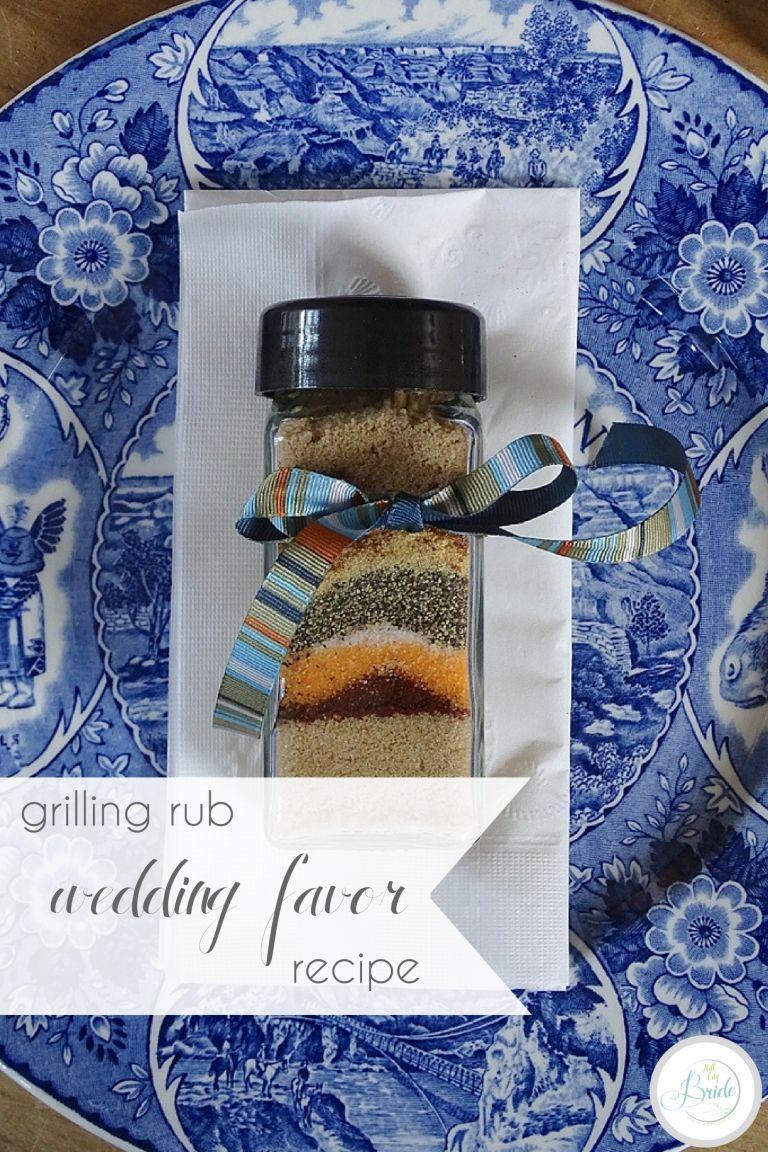 Grilling Rub Recipe Wedding Favor | Hill City Bride Wedding Blog | Father's Day Gift