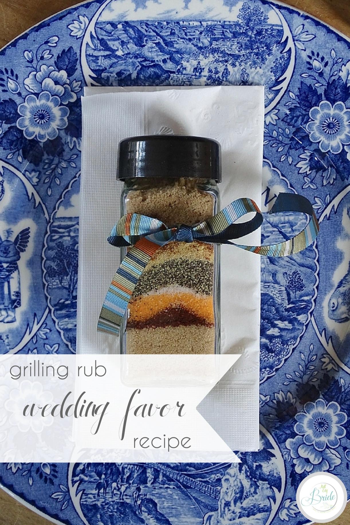 Grilling Rub Recipe Wedding Favor | Hill City Bride Wedding Blog | Father