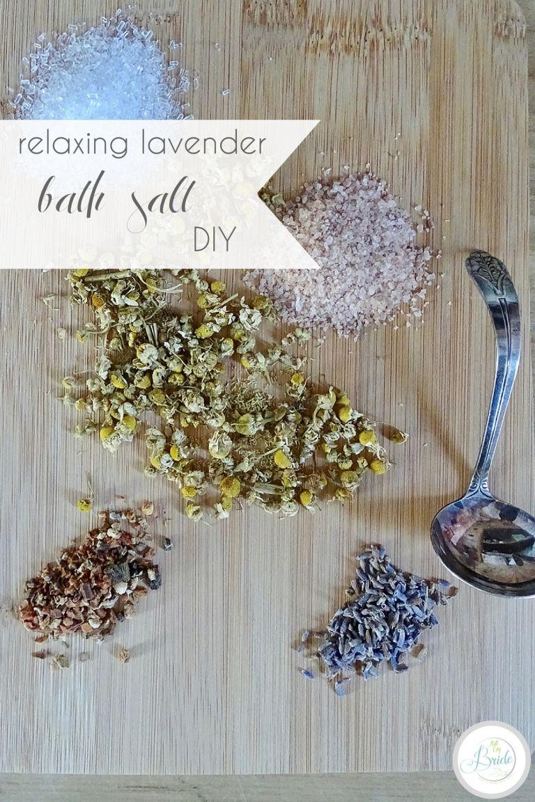 Lavender Bath Salt DIY Salts | Hill City Bride Virginia Wedding Blog