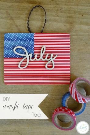 DIY Washi Tape Flag 4th Fourth of July Patriotic | Hill City Bride Virginia Wedding Blog