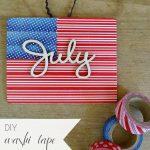 DIY Washi Tape Flag 4th Fourth of July Patriotic   Hill City Bride Virginia Wedding Blog