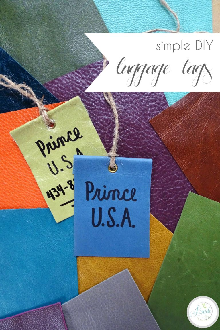 Simple DIY Luggage Tags in Leather for Honeymoon Travel | Hill City Bride Virginia Wedding Blog