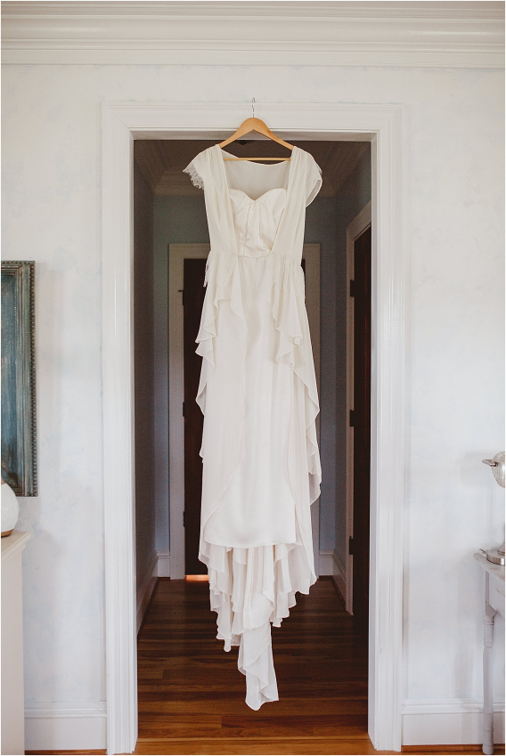 Vintage Heirloom DIY Wedding at the Aviary in Lynchburg Virginia Purple Lavender | Hill City Bride Wedding Blog Gown Dress Hanging