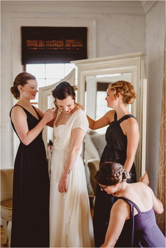 Vintage Heirloom DIY Wedding at the Aviary in Lynchburg Virginia Purple Lavender | Hill City Bride Wedding Blog Getting Ready Bridesmaids