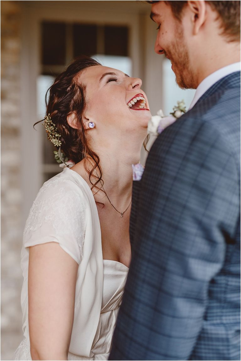 Vintage Heirloom DIY Wedding at the Aviary in Lynchburg Virginia Purple Lavender | Hill City Bride Wedding Blog First Look