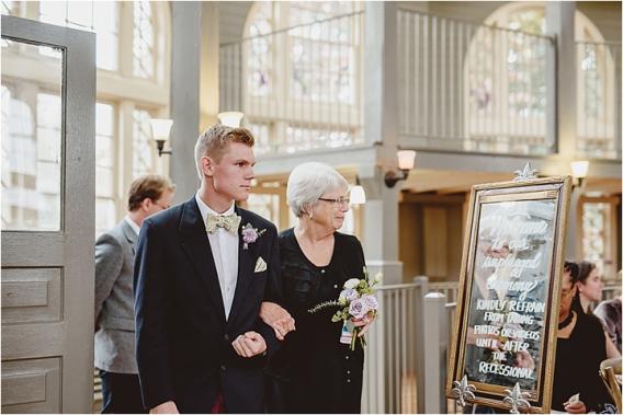 Vintage Heirloom DIY Wedding at the Aviary in Lynchburg Virginia Purple Lavender | Hill City Bride Wedding Blog Seating of Grandmothers