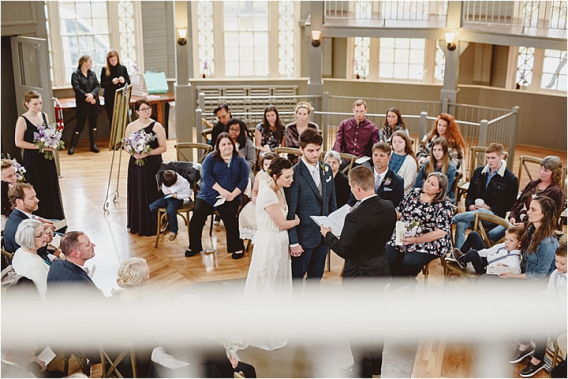 Vintage Heirloom DIY Wedding at the Aviary in Lynchburg Virginia Purple Lavender | Hill City Bride Wedding Blog Ceremony