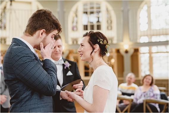 Vintage Heirloom DIY Wedding at the Aviary in Lynchburg Virginia Purple Lavender | Hill City Bride Wedding Blog Emotional Groom Crying
