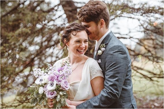 Vintage Heirloom DIY Wedding at the Aviary in Lynchburg Virginia Purple Lavender | Hill City Bride Wedding Blog Bride Groom