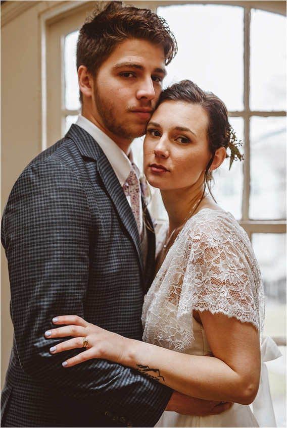 Vintage Heirloom DIY Wedding at the Aviary in Lynchburg Virginia Purple Lavender | Hill City Bride Wedding Blog Bride and Groom