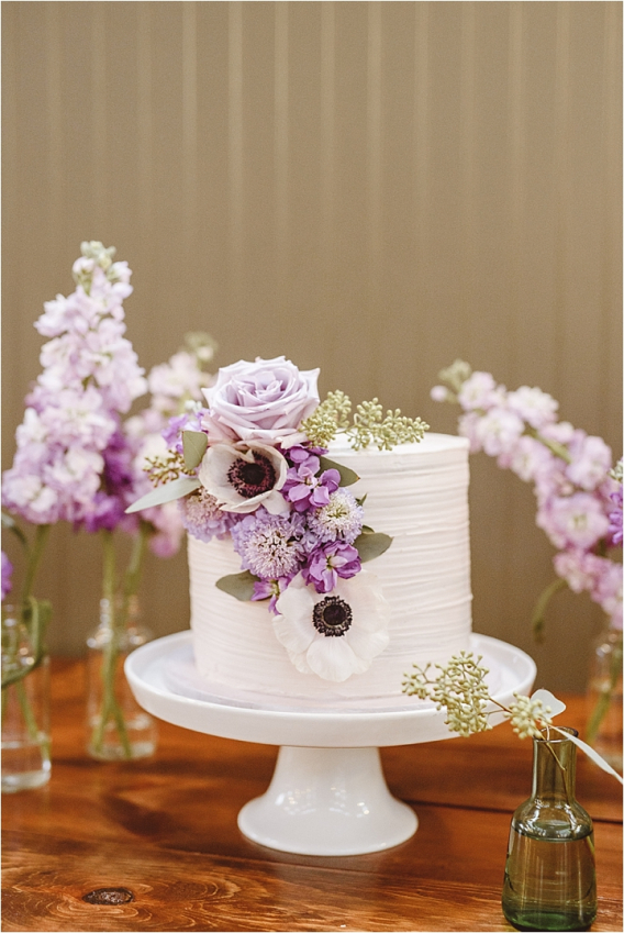 Vintage Heirloom DIY Wedding at the Aviary in Lynchburg Virginia Purple Lavender | Hill City Bride Wedding Blog Purple Cake Lavender