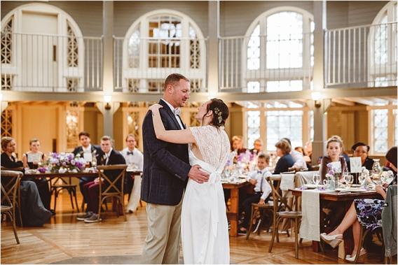 Vintage Heirloom DIY Wedding at the Aviary in Lynchburg Virginia Purple Lavender | Hill City Bride Wedding Blog Daddy Daughter Dance