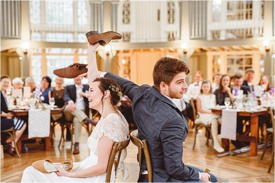 Vintage Heirloom DIY Wedding at the Aviary in Lynchburg Virginia Purple Lavender | Hill City Bride Wedding Blog Shoe Game