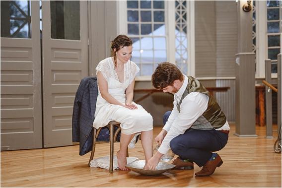 Vintage Heirloom DIY Wedding at the Aviary in Lynchburg Virginia Purple Lavender | Hill City Bride Wedding Blog Foot Washing
