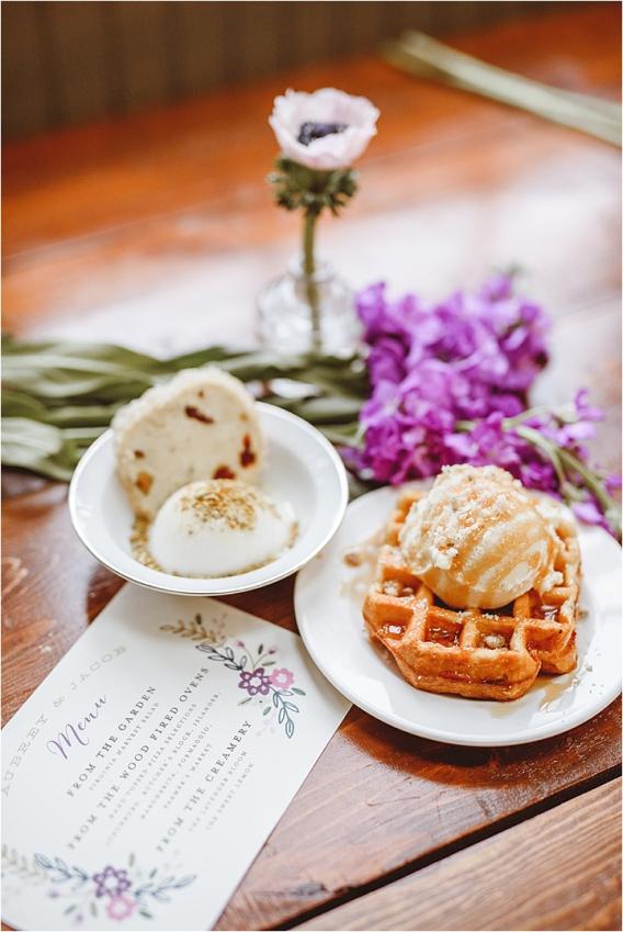 Vintage DIY Heirloom Wedding Purple Lynchburg Virginia Aviary | Hill City Bride Virginia Wedding Blog Destination Weddings Ice Cream Dessert