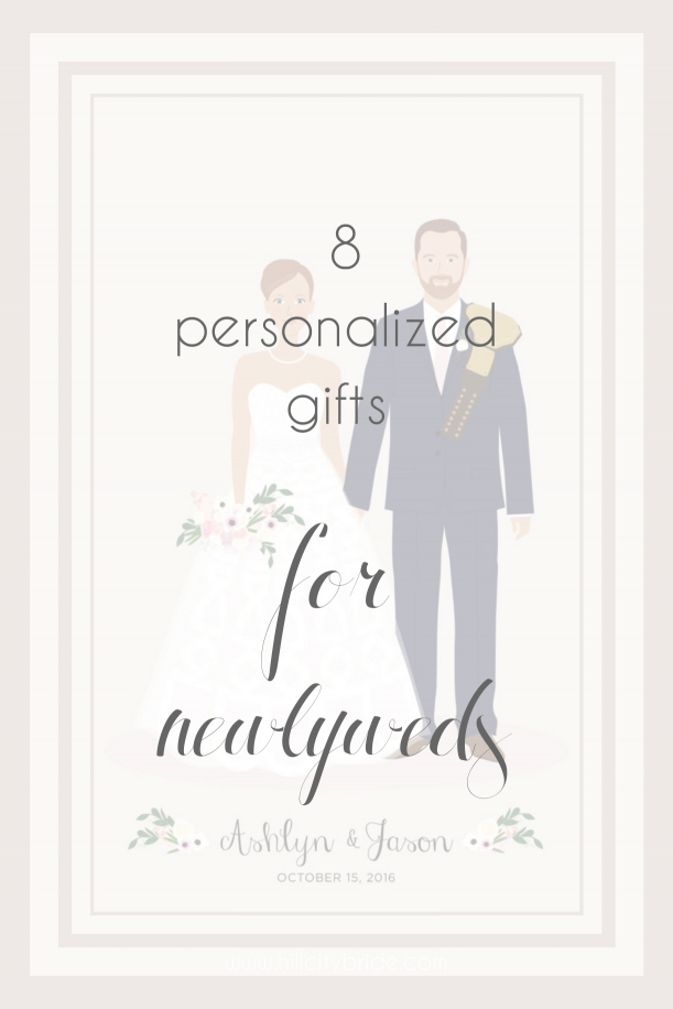 Personalized Gift Ideas for Newlyweds Couples | Hill City Bride Virginia Wedding Blog