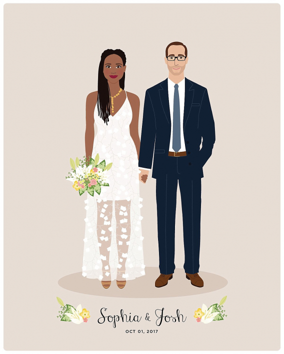 Personalized Gift Ideas for Newlyweds Couples | Hill City Bride Virginia Wedding Blog Digital Portrait Groom