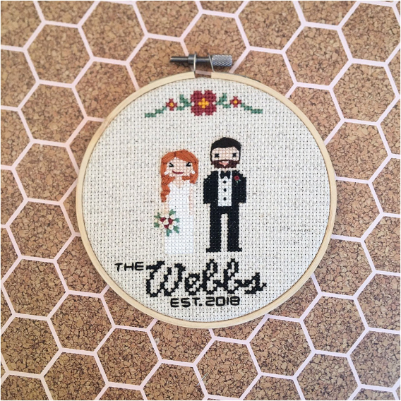 Personalized Gift Ideas for Newlyweds Couples | Hill City Bride Virginia Wedding Blog Cross Stitch