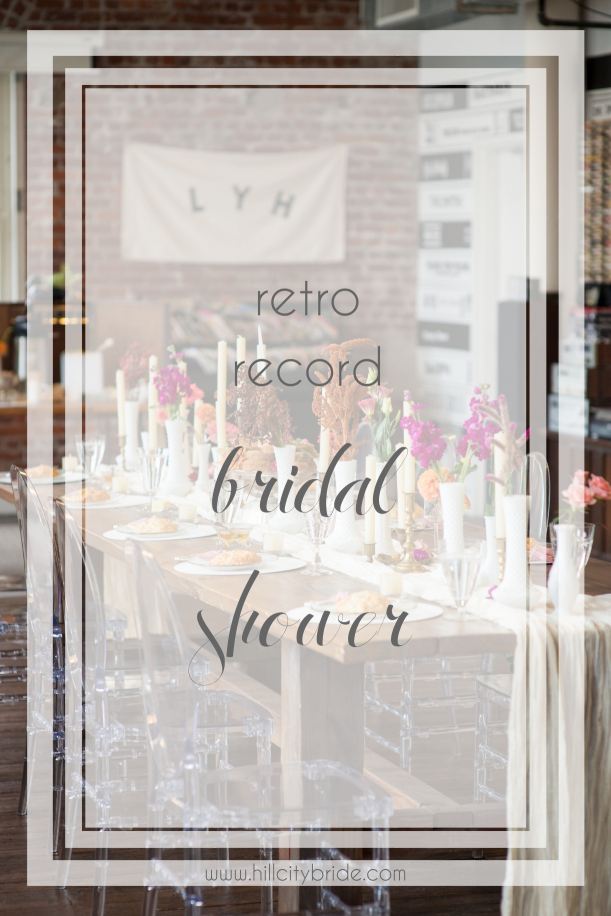 Lynchburg Speakertree Records Vinyl Record Bridal Shower | Hill City Bride Wedding Blog