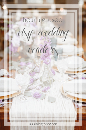 How We Used Etsy Wedding Vendors | Hill City Bride Wedding Blog