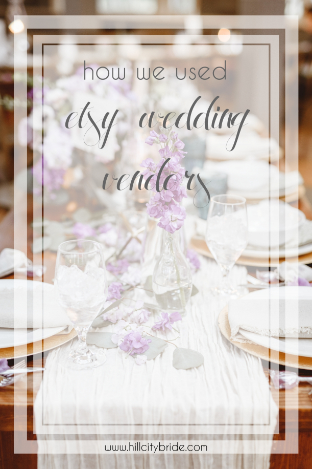 How We Used Etsy Wedding Vendors | Hill City Bride Wedding Blog