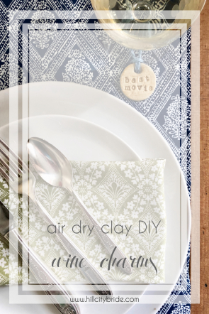 Air Dry Clay DIY Wine Charms Oscars Party Golden Globes Reception | Hill City Bride Virginia Wedding Blog Handmade Craft