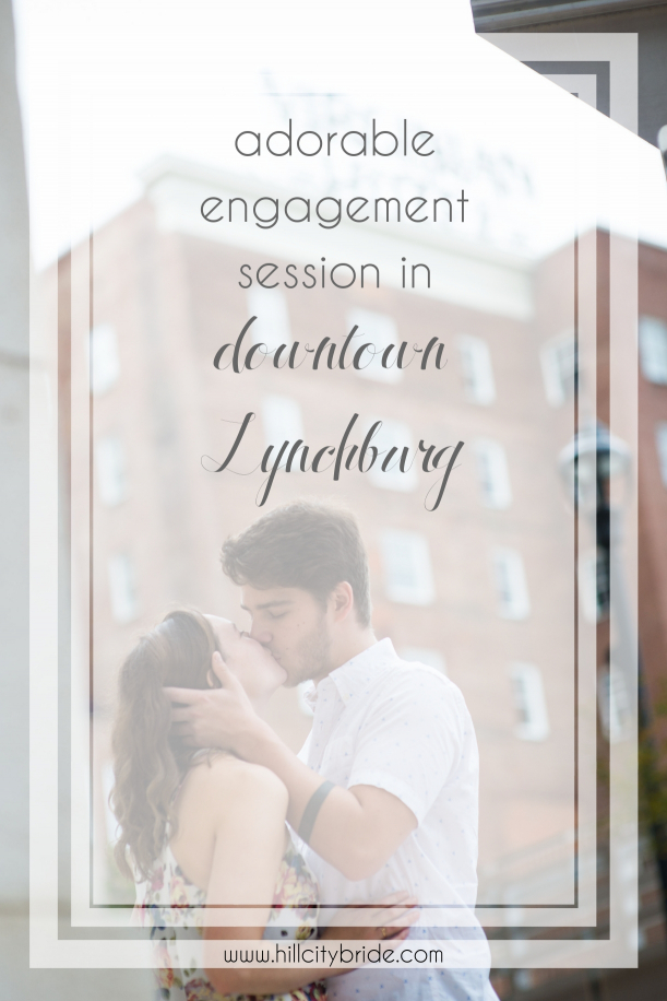 Adorable Engagement Session Lynchburg Virginia | Hill City Bride Wedding Blog Riverside Park Virginian Hotel