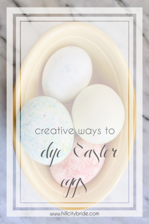 Creative Ways to Dye Easter Eggs | Hill City Bride DIY Project Blog Dying Eggs with Rice Whipped Cream Shaving Cream