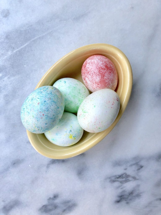 Rice Dyed Easter Eggs Food Coloring | Hill City Bride DIY Project Blog