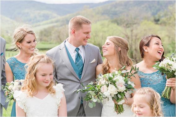 Virginia Vineyard Wedding at King Family Vineyards | Hill City Bride Virginia Weddings Blog Bride and Groom Looking at Each Other